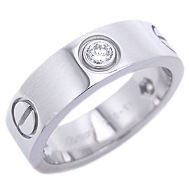 Cartier Love Ring 18k White Gold 3 Diamonds Size 5.75