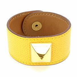 Hermes Medor Leather Cuff Bracelet