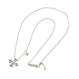 Nina Ricci 18K White Gold 0.15ctw Diamond Chain Necklace