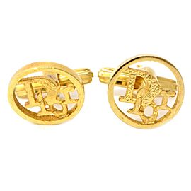 Christian Dior Gold Tone Metal Cufflinks