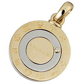 Bulgari 18K Yellow Gold Stainless Steel Diamond Pendant