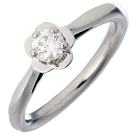 Chanel Camellia Platinum Diamond Ring Size 6