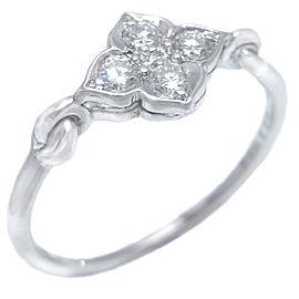 Cartier Hindu Ring 18k White Gold Diamond Size 4.75