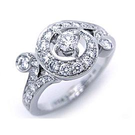 Van Cleef & Arpels White Gold Diamond Ring Size 4.75