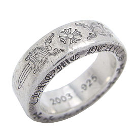 Chrome Hearts Sterling Silver Ring Size 4.5