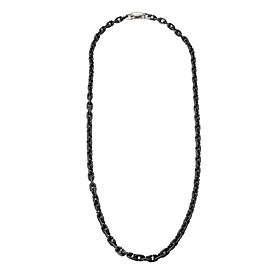 David Yurman Sterling Silver, Titanium Necklace