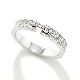 Chaumet 18K White Gold Diamond Ring Size 5