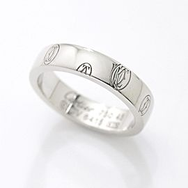 Cartier Logo de Cartier Ring 18K White Gold Size 3.25