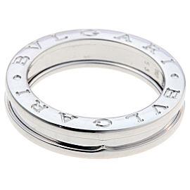 Bulgari Bzero.1 18K White Gold Ring Size 6.25
