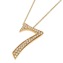 Franck Muller Talisman No. 7 18k Yellow Gold Diamond Necklace