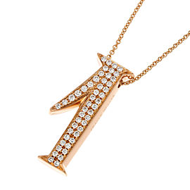 Franck Muller Talisman No.1 18k Rose Gold Diamond Necklace