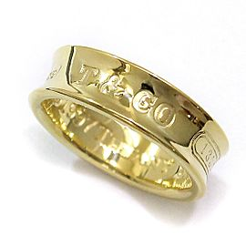 Tiffany & Co. 1837 Ring 18K Yellow Gold Size 6