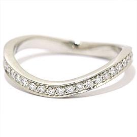 Chanel Ruban Platinum Diamond Ring Size 6