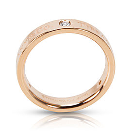 Tiffany & Co. 18K Rose Gold Diamond Ring Size 6