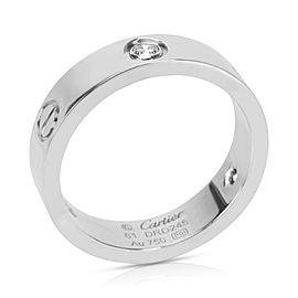 Cartier 18K White Gold Diamond Ring Size 9.5