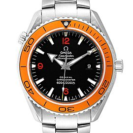 Omega Seamaster Planet Ocean 45 XL Orange Bezel Mens Watch 2208.50.00