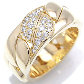 Cartier La Dona Ring 18K Yellow Gold Diamond Size 5.75