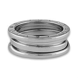 Bulgari B.Zero1 Three Band Ring 18K White Gold Size 5.75