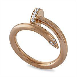 Cartier Juste un Clou Ring 18K Yellow Gold Diamond Size 5.75