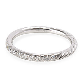 David Yurman Cable Pave Band in 18K White Gold (0.31 CTW)