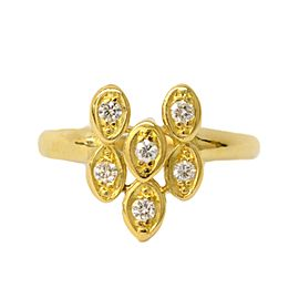 Christian Dior 18K Yellow Gold with 0.20ct Diamond Ring Size 7