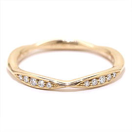 Chanel 18K Rose Gold Diamond Ring Size 4.75