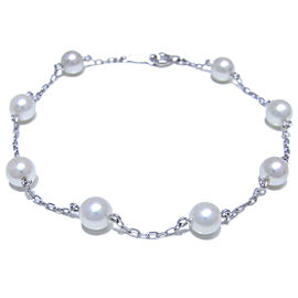 Mikimoto White Gold Cultured Pearl Bracelet