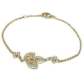 Harry Winston Yellow Gold Lily Cluster Mini Diamond Bracelet