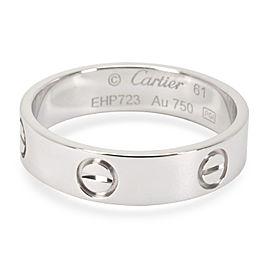 Cartier Love 18K White Gold Ring Size 9.75