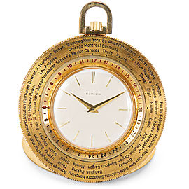 Gubelin World Timer Pocket Watch in 14K Gold-Filled