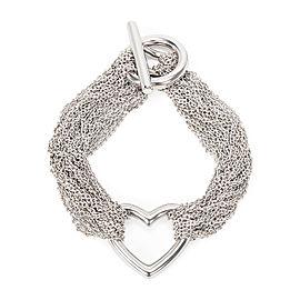 Tiffany & Co. Charming Mesh Heart Sterling Silver Bracelet
