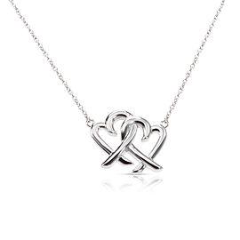 Tiffany & Co. Paloma Picasso Loving Heart Interlocking Sterling Silver Pendant
