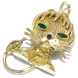 Van Cleef & Arpels Yellow Gold Onyx, Emerald Pendant Charm