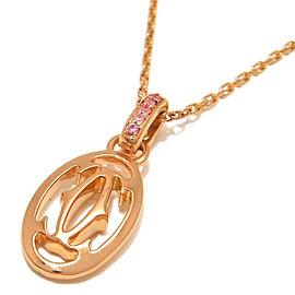 Cartier Rose Gold Sapphire Pendant Necklace