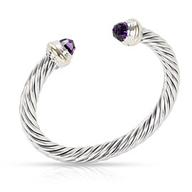 David Yurman Cable Amethyst Bangle in 14K Yellow Gold/Sterling Silver
