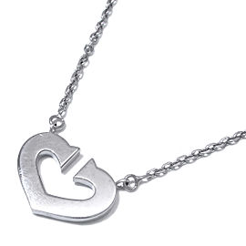 Cartier White Gold C Heart Necklace