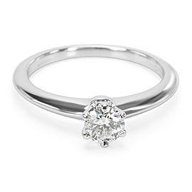Tiffany & Co. Platinum Diamond Engagement Ring Size 7.25