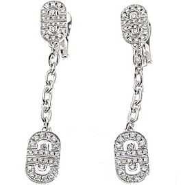 Bulgari 18K WG Parentesi Diamond Earrings