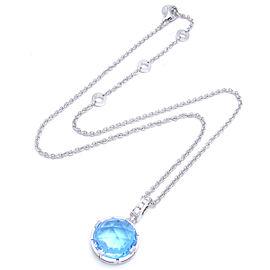 Bulgari White Gold Diamond, Topaz Pendant Necklace