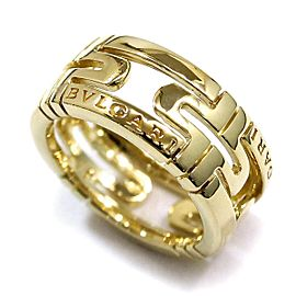 Bulgari 18K YG Parentesi Ring Size 4