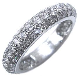 Cartier Platinum Paved Diamond Ring Size 4.5