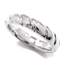 Chaumet Platinum 1P Torsade Diamond Ring Size 4.5