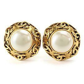 Chanel Faux Pearl Earrings