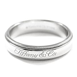 TIFFANY Co. Platinum Notes Milgrain Band Ring Size 5.5