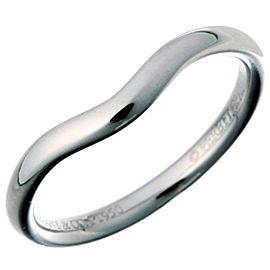 Tiffany & Co. Platinum Elsa Peretti Curved Band Ring