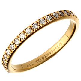 Tiffany & Co. Yellow Gold Eternity Diamond Ring Size 4.75
