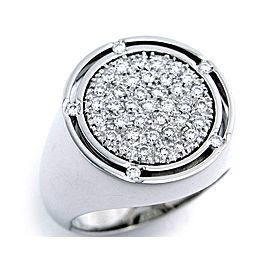 Damiani White Gold D-Side Diamond Ring Size 6