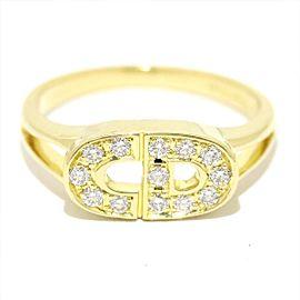 Christian Dior 18K YG Diamond Ring Size 5.5