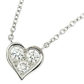TIFFANY Co. Platinum Heart Diamond Necklace