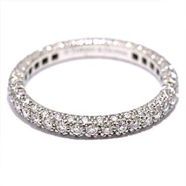 TIFFANY Co. Platinum Diamond Ring Size 4